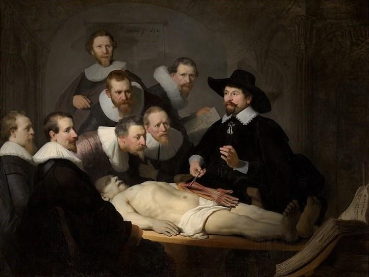 lliçó anatomia Dr. Tulp, Rembrandt
