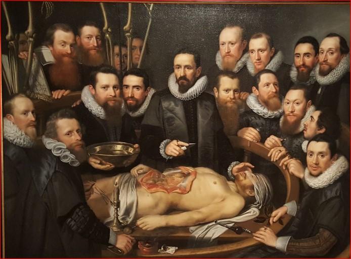 "Michiel Jansz van Mierevelt ""Lliçó anatomia Dr. Willem van der Meer"""