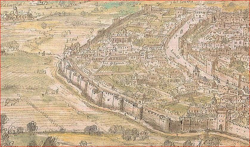 convent de Sant Antoni Abat, Anton Van der Wyngaerde (1563)