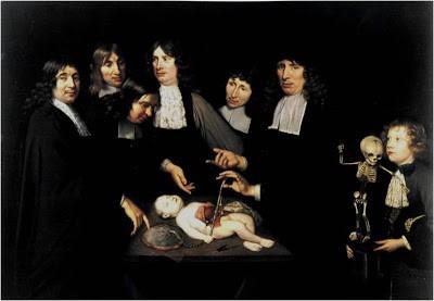 Lliçó d'anatomia del professor Ruysch per Jan van Neck
