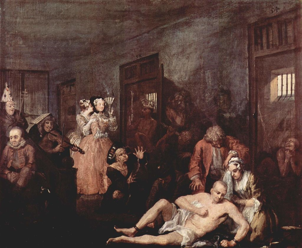 La vida d'un llibertí, William Hogarth