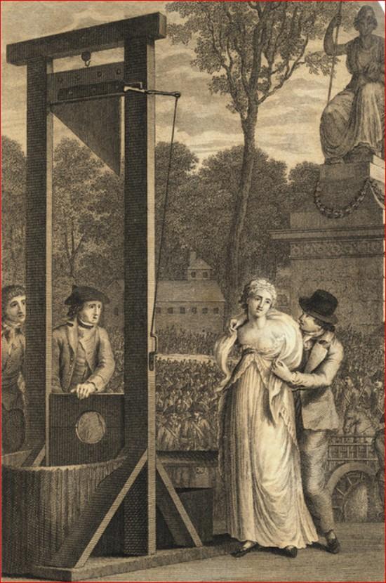 Carlota Corday guillotina