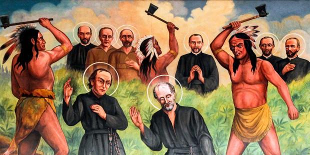 martiri dels sants missioners jesuïtes a mans dels indis